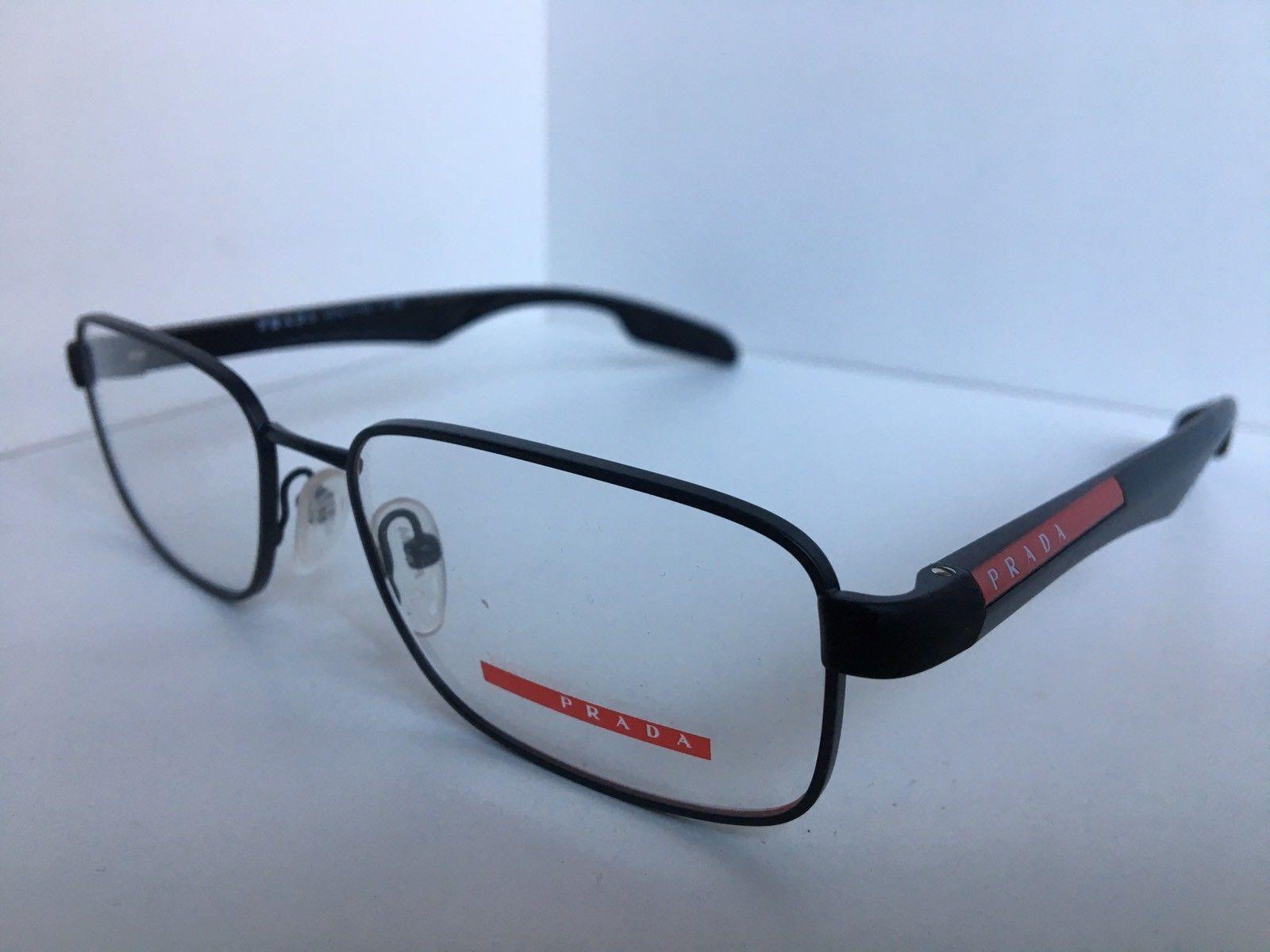 159fb762efe S l1600. S l1600. New PRADA Sport VPS 52D VPS52D AAG-1O1 Gray Black 52mm  Men s Eyeglasses Frame