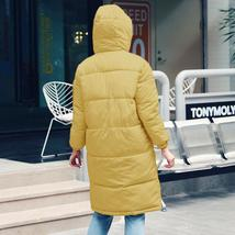 New Women's Casual Hooded Long Soft Quilted Down Zip Up Coat Outwear image 7
