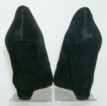 Jessica Simpson 'Amari' black suede amond toe slip on womens wedges 8.5B image 3