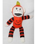 Dan Dee Halloween Sock Monkey Plush Stuffed Animal Orange Pumpkin Jack o... - $14.83