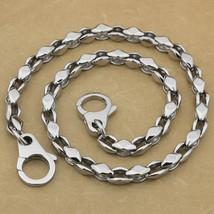 """LINSION 14""""~36"""" 316L Stainless Steel Men Biker Rocker Punk Wallet Chain ... - $75.00+"""