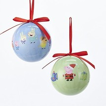 Kurt Adler 60 MM 2 Assorted Blue And Green Peppa Pig Decoupage Christmas... - $16.08