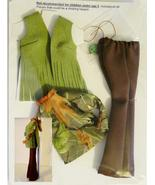 """11.5"""" Barbie Doll-Size Clothes New 70s Bell Bottom Set-Fringed Faux Leat... - $19.99"""