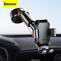 Baseus Gravity Car Phone Holder Suction Cup Adjustable Universal Holder ... - $81.00