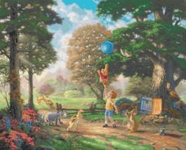 "Counted Cross Stitch - Winnie the Pooh II - Kinkade - 35.43"" x 28.57"" - L463 - $3.99"