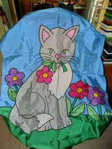 Carousel Creations XL Cat Flag EUC 35 X 55 1/2 - $32.40