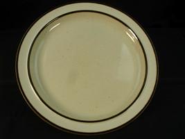 "Sango Rainbow Stoneware CAPRI 651 Serving Platter 12 1/4"" Brown Trim Off White - $17.39"