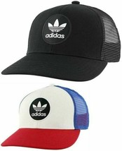 Adidas Mens Originals Mesh Trucker Target Snapback Cap Hat Red White Blu... - £17.69 GBP