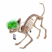 Halloween Haunters Life Size Skeleton Meowing Kitty Cat with Light-Up Gr... - €21,24 EUR