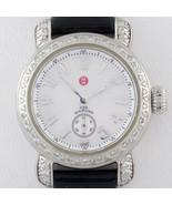 Michele Stainless Steel Diamond CSX Quartz Women's Watch w/ Leather Band - $935.73