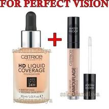 CATRICE HD Liquid Coverage 24H Foundition 030 + Liquid Camouflage Concea... - $27.51