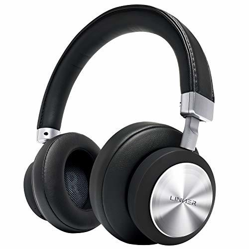 LINNER Noise Cancelling Headphones Large Ears, Wireless Noise Cancelling Headpho