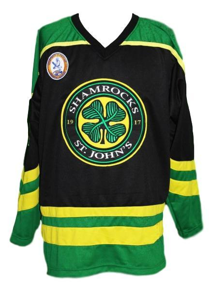 Any Name Number St John's Shamrocks Retro Hockey Jersey Black Rhea Any Size