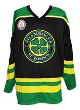 Any Name Number St John's Shamrocks Retro Hockey Jersey Black Rhea #3 Any Size image 1