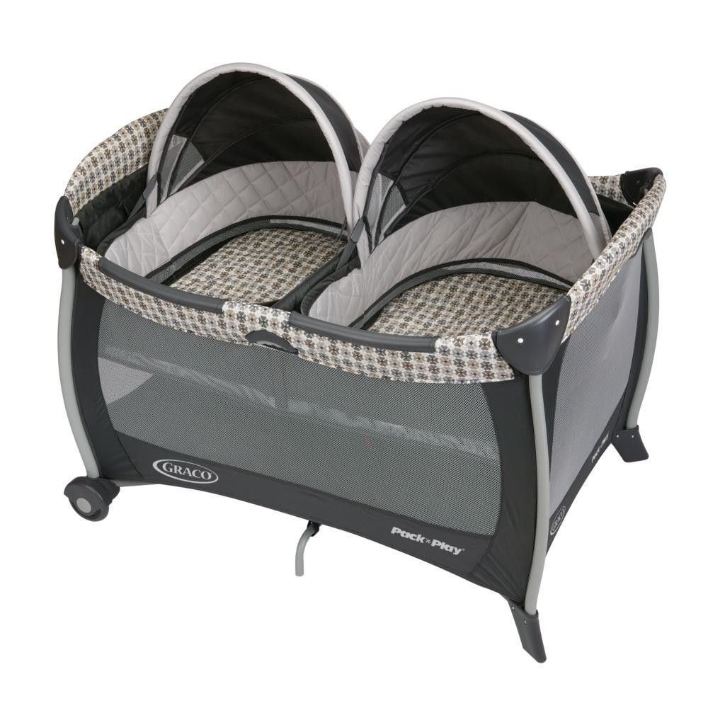 Twin Graco Baby Infant Pack N Play Bassinet Twin Sleeper Bed Crib w Carrying Bag