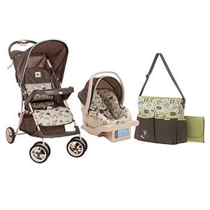 Travel System W Diaper Bag Bundle Baby Car Seat Stroller