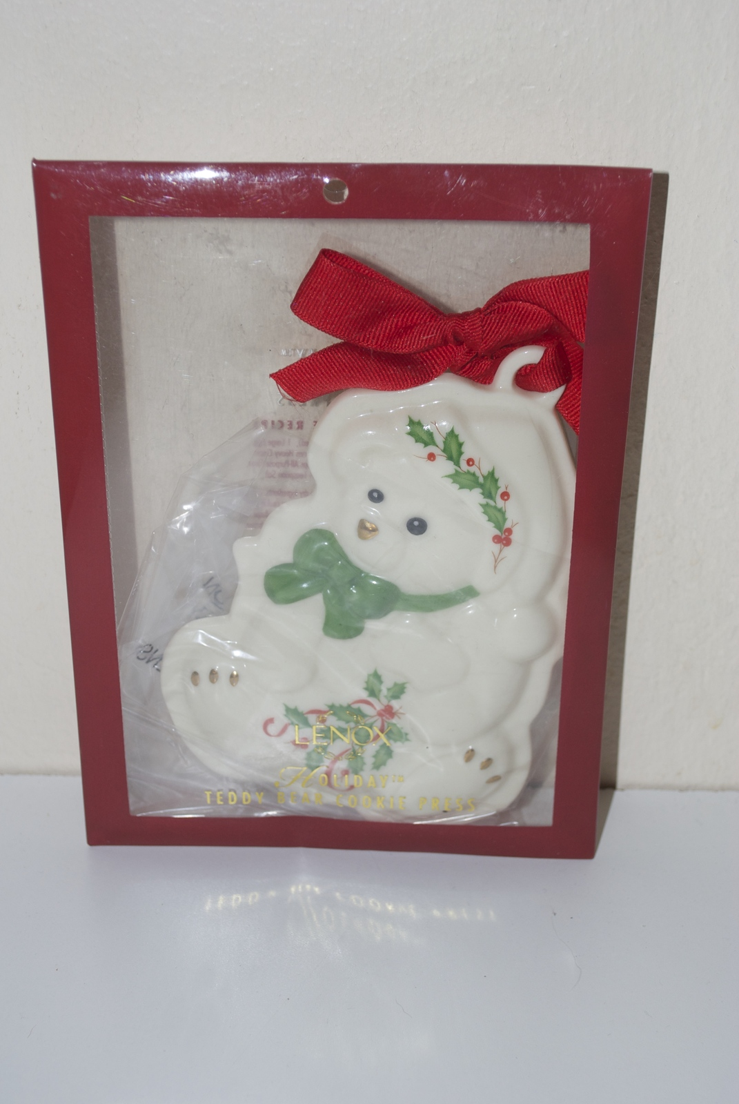 Lenox Holiday Teddy Bear Cookie Press Christmas Ornament