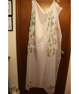 JC Penney White Sheer Floral Window Curtain - 1 Window Treatment - $34.99