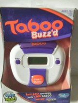 TABOO BUZZ'D ELECTRONIC HANDHELD WORD GUESSING GAME SEALED NEW - $14.99