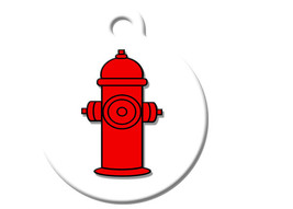 Funny Custom Pet ID Tag - Fire Hydrant- on the front, your contact info on the b - $14.95