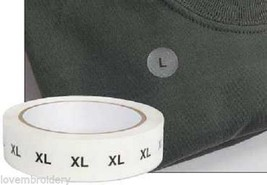 """1 roll 1000 pcs Clear Acetate Clothing 3/4"""" Round size labels Tags M L X... - $3.99"""