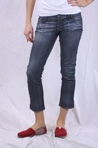 25 Rock & Republic Womens Capri Ciggy Gray Wash Skull Crop Jeans 1FS0IG-... - $108.90