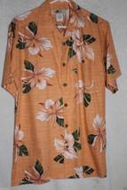 Joe Marlin Hawaiian Camp Style Shirt Peach M 55/45 Cotton/Rayon - $21.38