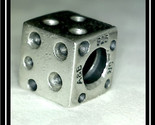 DICE Charm Bead - STERLING Silver BIAGI - FREE SHIPPING