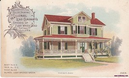 National Lead Company Color Lithograph House Paint VictorianTrade Card - $21.99