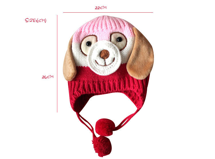 Cute Animal Shaped Crochet Winter Warm knited Caps For Baby Boy Girl lovely Hats