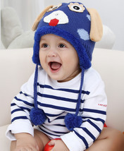 Cute Animal Shaped Crochet Winter Warm knited Caps For Baby Boy Girl lov... - ₹793.77 INR