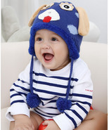 Cute Animal Shaped Crochet Winter Warm knited Caps For Baby Boy Girl lov... - $207,84 MXN