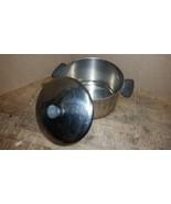Vintage REVERE WARE 6 Qt Quart Stock Pot Lid Copper clad Bottom 1801 - $28.71