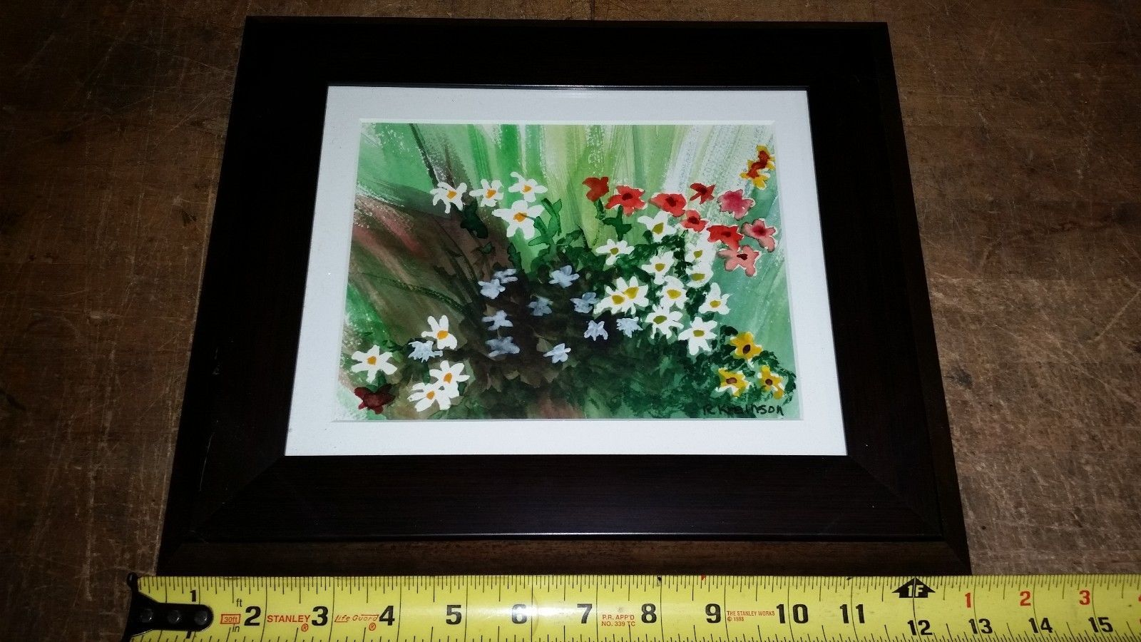 robert krainson floral watercolor print picture Framed