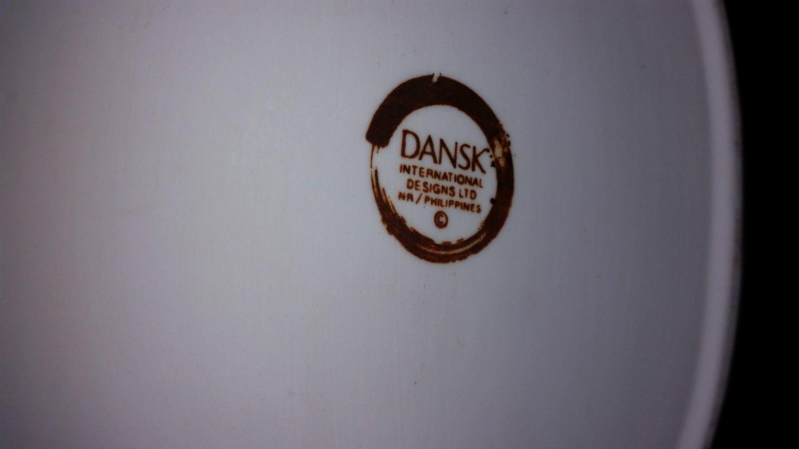 Dansk SAGE SONG Blue & Green Floral Porcelain CHICKEN 1 Quart Covered CASSEROLE
