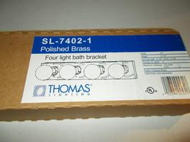 Brand New in Box Thomas Lighting Bronze Bathroom 4 Light Fixture SL-7402-1 - $13.50