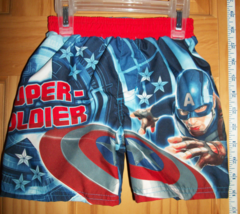 Marvel Heroes Baby Clothes 18M Captain America Bathing Suit Avengers Boys Trunks - $14.24