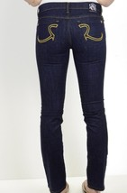 "30 NWT Rock & Republic Stella Gold Embroidered ""R"" Dark Wash Straight Le... - $196.02"