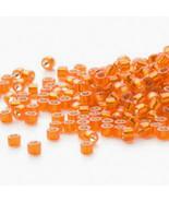 Miyuki Delicas 11/0 Semi Matte S/L Squash Orange 681, 50g bag of beads f... - $20.25