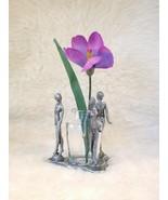 """Pewter """"Three Dancers"""" Vase / Votive Holder - Unique, Dramatic Item! - $15.00"""