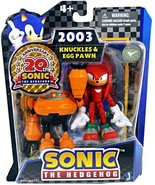 Sonic 20th Anniversary: 3.5'' 2003 Knuckles Egg Pawn Action Figure Brand... - $39.99