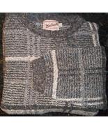 Vintage Woolrich Mens Wool Crewneck Sweater Long Sleeve Sz L Brown Black... - $19.79