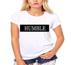 Humble Across Chest Stripe Faux Leather Vinyl Ladies T-Shirt - $12.00