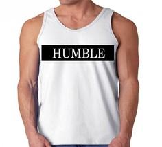 Humble Across Chest Stripe Faux Leather Vinyl Men's Tank Top - $12.00