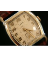 Handsome running men's vintage 1938 Elgin 10K gold filled dress 15J wr... - $123.75