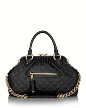 NWT MARC JACOBS Quilted Stam Mini BLACK Leather Satchel Bag $1395 AUTHENTIC - $798.00