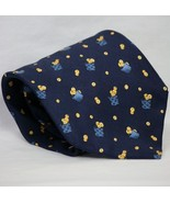Celio Yellow Apples Apple Basket Dark Blue 100% Silk Necktie New Without... - $7.99
