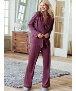 The Victoria's Secrete Sleepover Knit PJ set, berry stain, size L, NWT - $55.00