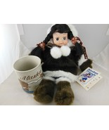 Alaskan Friends Doll new 12 inch and Mug with Bear & Fish 1987 ACE Alask... - $19.00