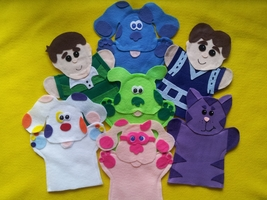 Blues Clues puppets-Blue, Magenta, Steve, Green Puppy, Perwinkle, Magent... - $32.99